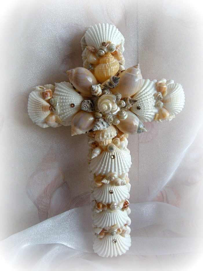 92 best cross templates images on pinterest cross for Seashell art projects