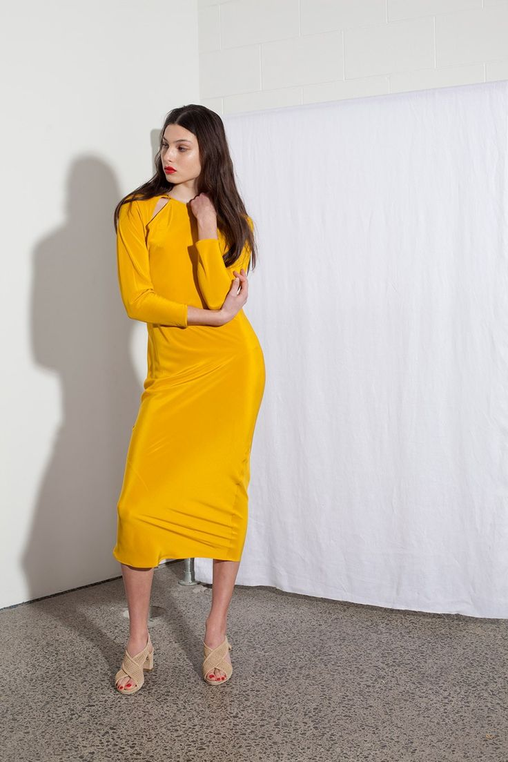 Shop the Miss Crabb Envelope Dress in Kowhai on Well Made Clothes now! #ethicalfashion #sustainablefashion #ethicalclothing #womensfashion #fashion #clothes #winterclothes #winterstyle #winterfashion #wintersale #winterdress #ethicaldress #silkdress #saledress #wellmadeclothes #misscrabb