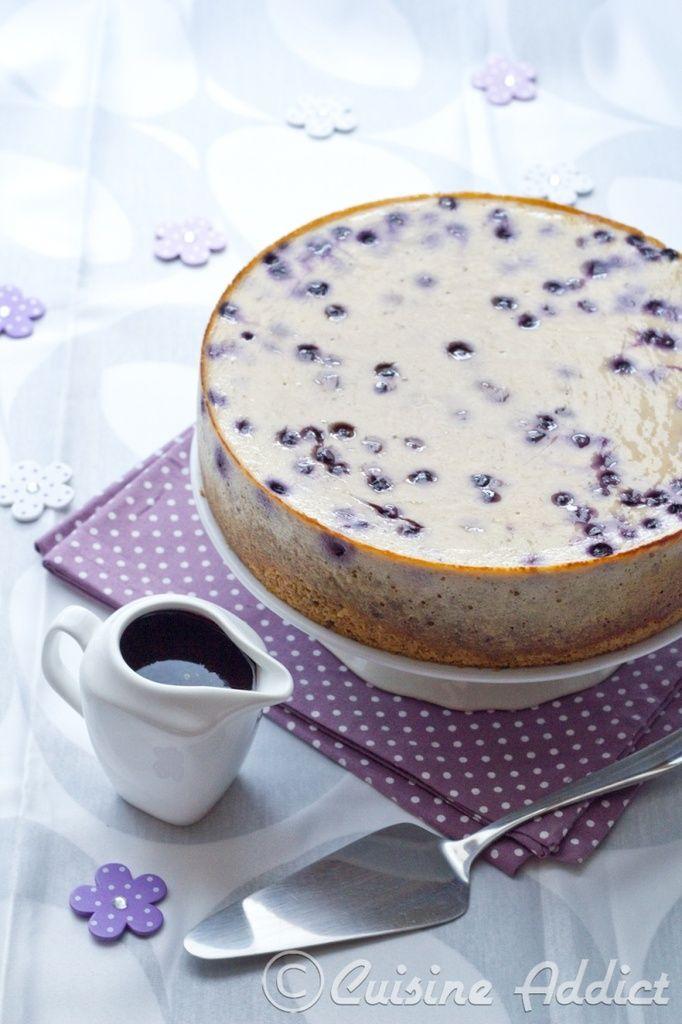 Cheesecake à la Banane et aux Myrtilles
