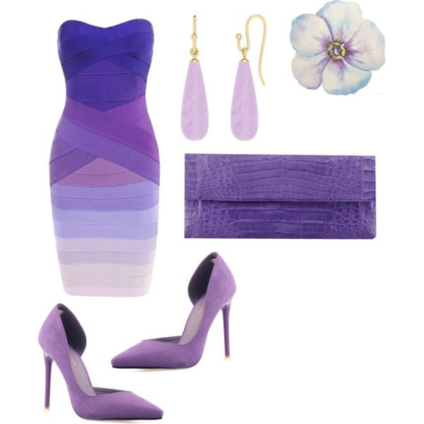 Untitled #66 Sexy Purple Bodycon Dress