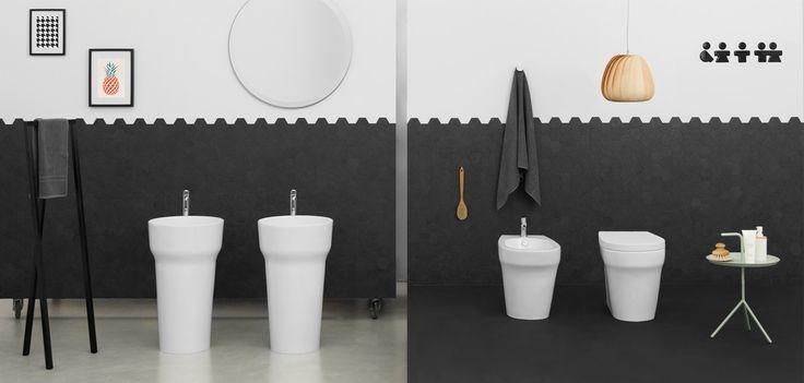 POP, The.Artceram bathroom collection. Design Meneghello Paolelli Associati. #washbasin  #sanitaryware. Freestanding washbasin, hang to the wall sanitaryware