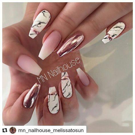#nailsart #nails #nail #nailstagram #nailswag # nails #marmurnails #babyboomer #chromenails – Nägel