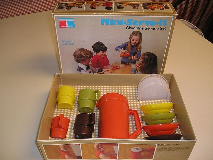 I love this vintage 70's kids tea set...I had one Kids