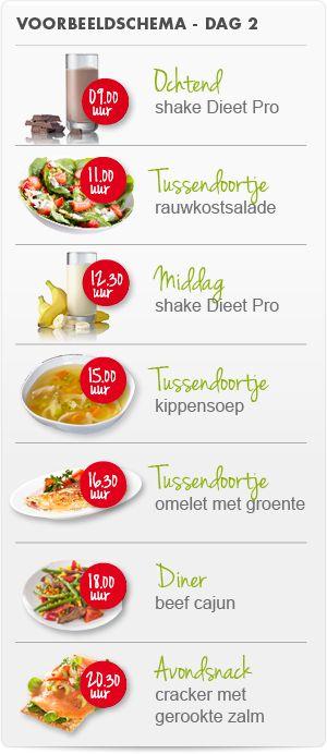 Dieet Pro weekmenu dag 2