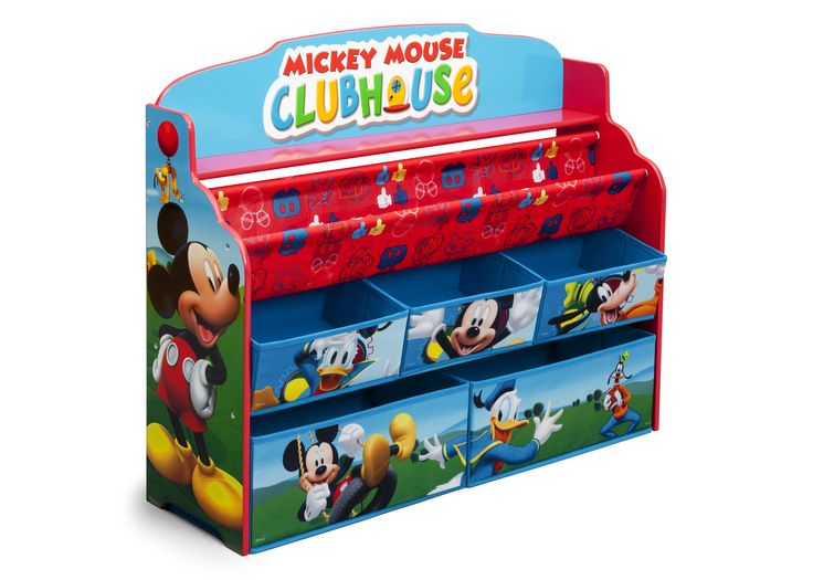 Make their bedroom or play space extra-special with a little help from Mickey! Boasting colorful graphics of every little kid's favorite mouse, this Mickey Mouse Deluxe Book & Toy Organizer from Delta