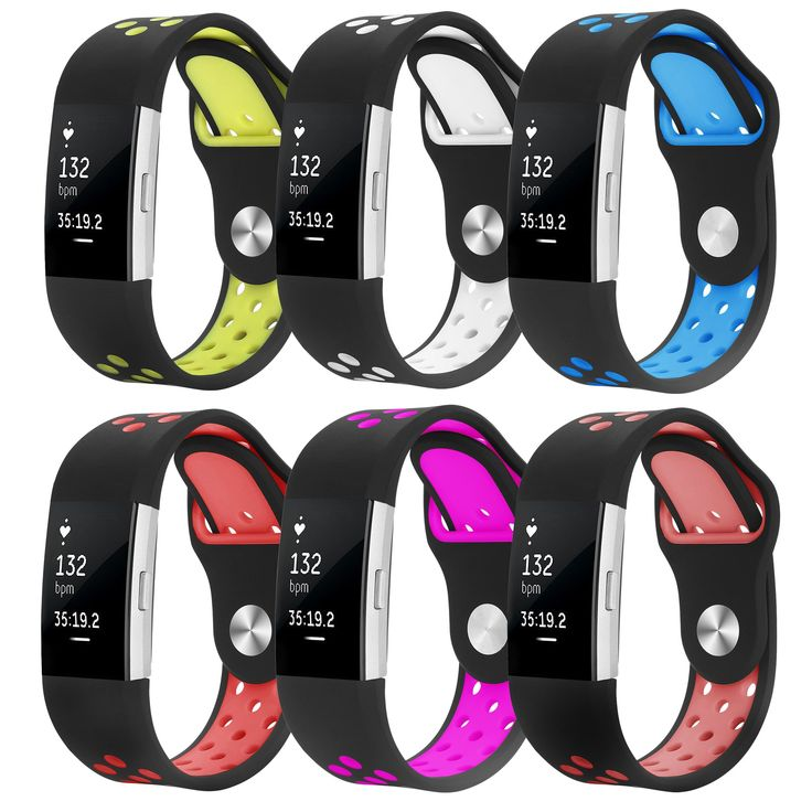 Accessories for Fitbit Charge 2, Large Black Fitness Wristband
