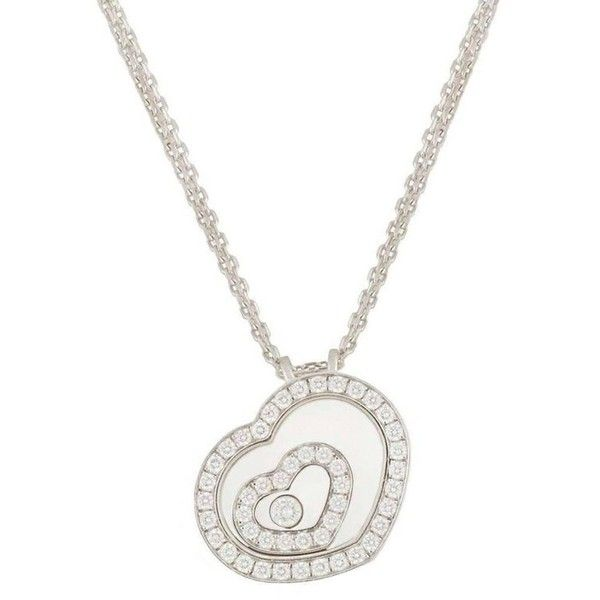 Preowned Chopard Happy Spirit Diamond Pendant ($7,015) ❤ liked on Polyvore featuring jewelry, pendants, heart jewelry, diamond pendant, heart shaped diamond pendant, round pendant and round diamond pendant
