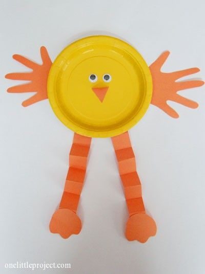 Easter crafts for kids--- Cute chick craft for spring or Easter