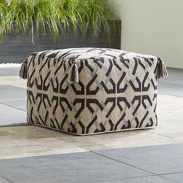 Mohave Outdoor Pouf Reviews Crate And Barrel Outdoor Pouf