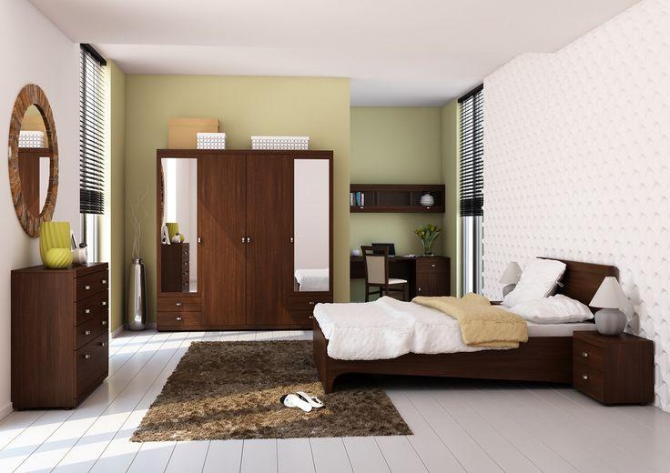 Kolekcja stworzona w dwóch klimatycznych kolorach. Wiśnia malaga dla tych, którzy pragną tchnąć we wnętrze elegancję i szyk, akacja królewska dla tych, którzy preferują ciepło oraz kameralną atmosferę #meble #furniture #sypialnia #bedroom #odpoczynek #relaks #relax #inspiracja