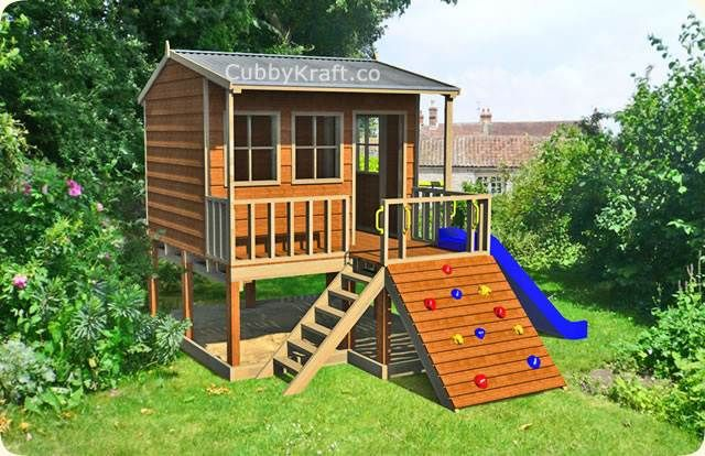 14 best images about the benefits of cubby houses for kids for Play yard plans