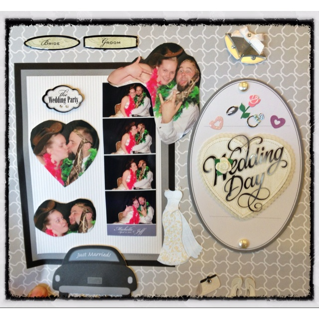 Wedding couple photobooth scrapbook guest book
