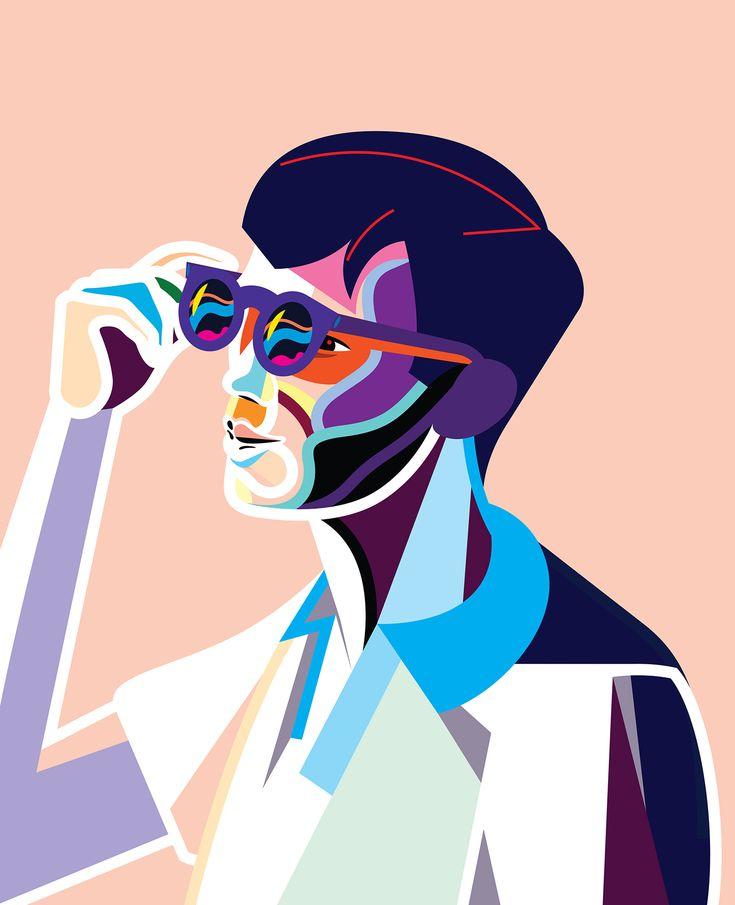 Bold, graphic portrait by Norwegian designer, Magnus Voll Mathiassen, MVM