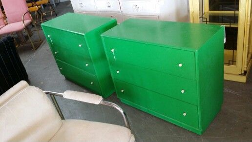 Pair of vintage shallow dressers at Jasper Kane