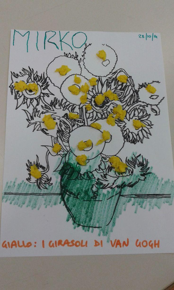 Laboratorio sui colori: giallo come i girasoli di Van Gogh