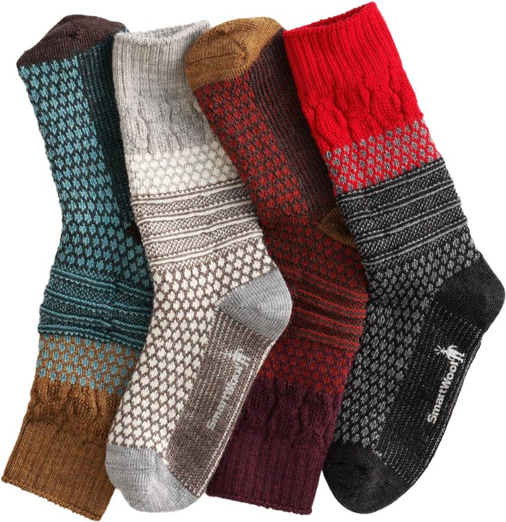 Yes, they look funky, chunky and thoroughly fun. They're made almost entirely of soft, moisture-wicking, naturally odor-resistant Merino wool - a huge treat for feet.: