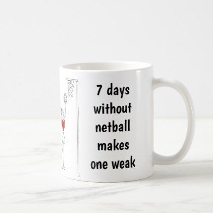 Hearts Player Positions Funny Netball Quote Coffee Mug - funny quotes fun personalize unique quote