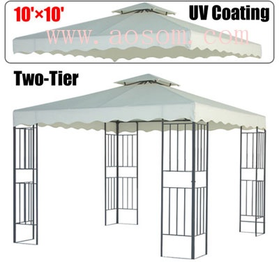 Aosom 10u0027 x 10u0027 Double-Tier Gazebo Replacement Canopy Top Cover -Beige  sc 1 st  Pinterest & 19 best Party Tent images on Pinterest | Tent Tents and Receptions