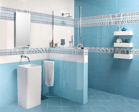 7 best petali piastrelle da rivestimento per bagni images on ... - Bagni Moderni Azzurri