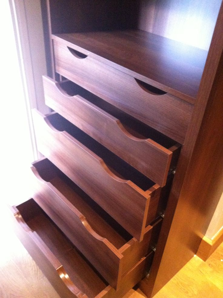 Bespoke wardrobe drawers. These can installed in a standard wardrobe or a walk-in. By Anthony Mullan furniture