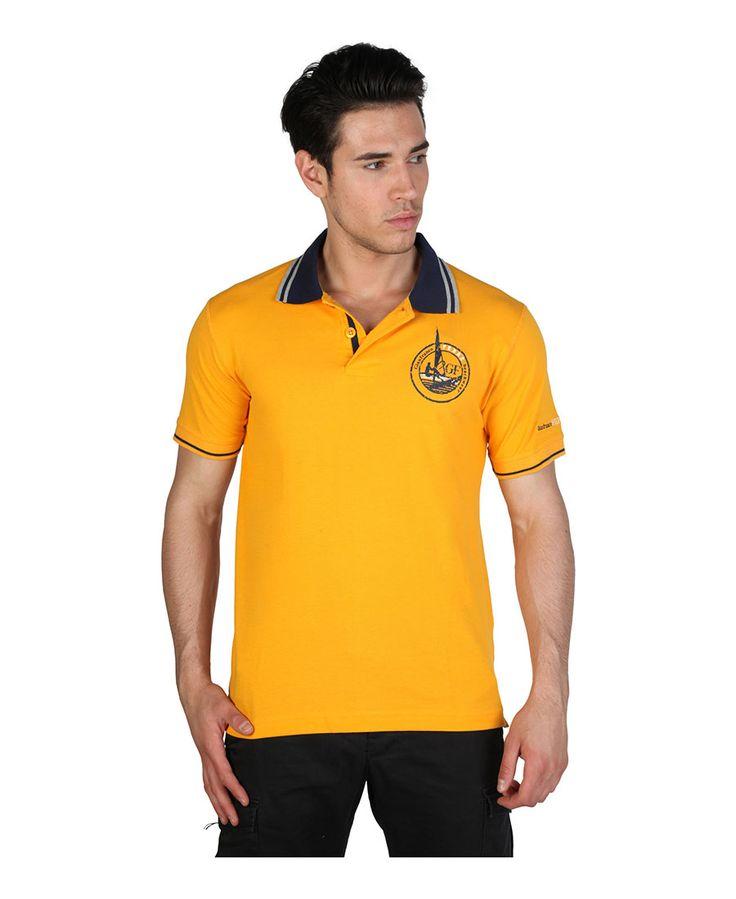 Polo ferre - polo da uomo - maniche corte, 2 bottoni - composizione: 100% cotone - lavare a 40°c - Polo uomo Arancione
