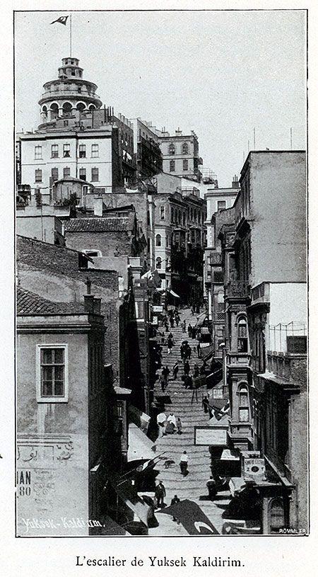 The steps (Τα σκαλάκια) of Galata - L'escalier de Yuksek Caldirim.