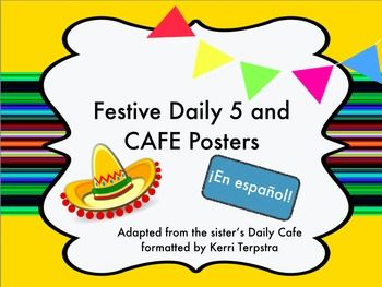 Los 5 Diarios and CAFE posters. Daily 5 and CAFE posters in Spanish!