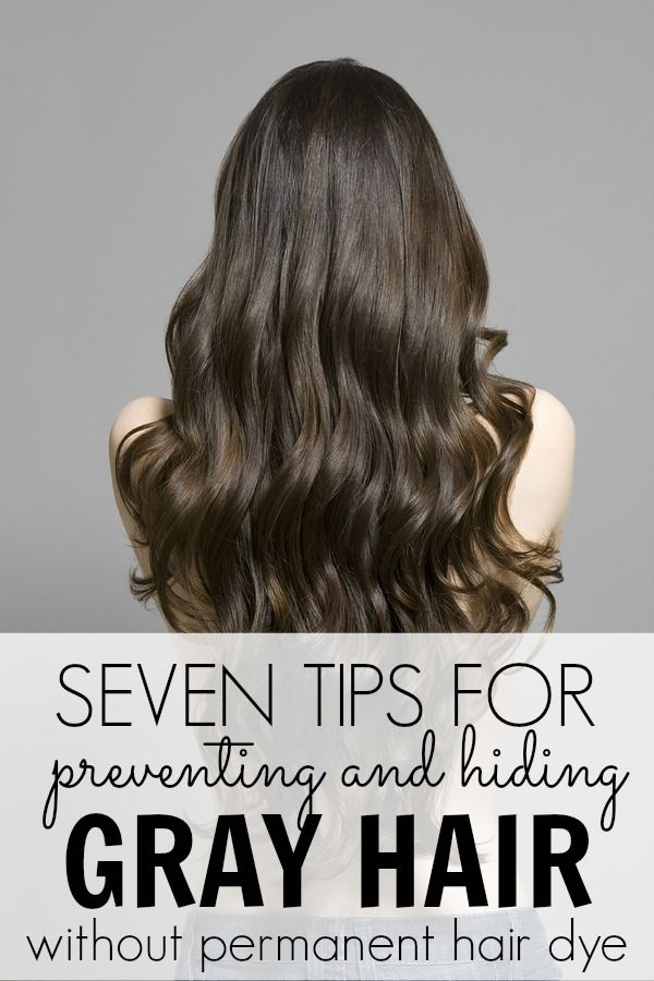 Preventing and hiding gray hair without permanent hair dye gray permanent hair dye and hair dye - Ways prevent grey hair ...
