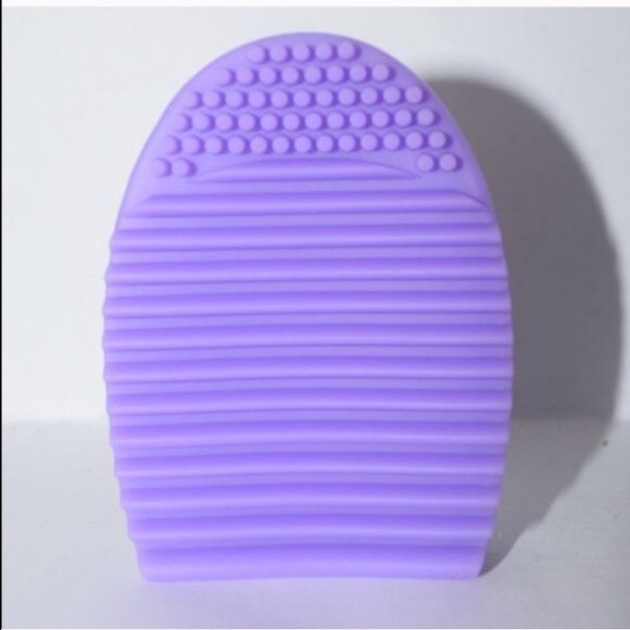 Light purple Brushegg makeup brush cleaner new Selling a light purple   brush egg. Used to clean your dirty makeup brushes! Just add soap to the egg and move the brush up and down! 3x3x1 inches 100% silicone   Colors available: light purple, hot pink, fuchsia purple, mint blue  Price firm unless bundled  Clinique Chanel urban decay MAC benefit cosmetics Laura mercier Estée Lauder kat Von D smashbox two face bare minerals Avon Mary Kay brush egg Makeup Brushes & Tools
