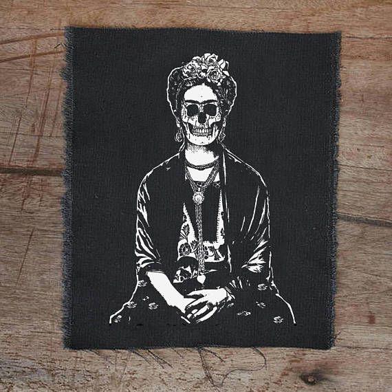 Frida Khalo patch punk patch back patches punk fashion