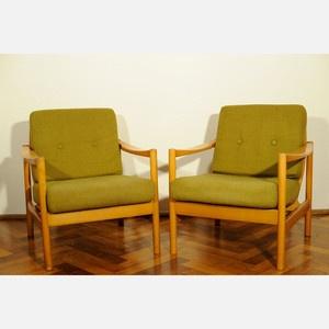 70s Armchair Duo Green