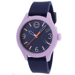 Esq Movado 7301433 Esq One Navy Blue Silicone & Dial Lavender Case Watch
