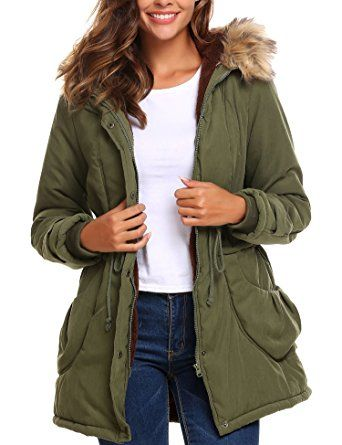 Beyove Women's Warm Winter Faux Fur Lined Drawstring Parkas Anoraks Hooded Military Jacket Coats Review