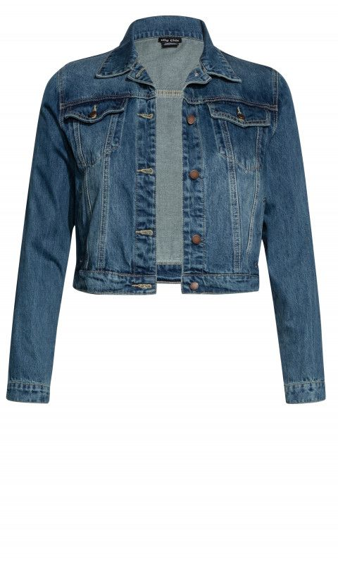 32bf942567281 Shop Women s Plus Size Adorned Denim Jacket - Street Style - Collections