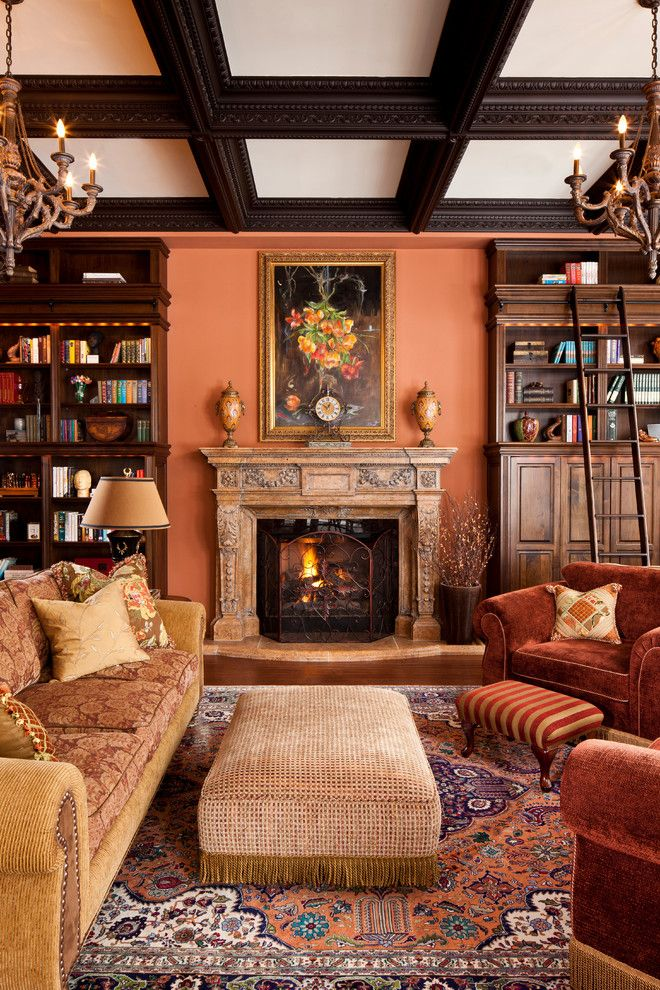 Cantaloupe Walls In This Sitting Room Living Rooms And