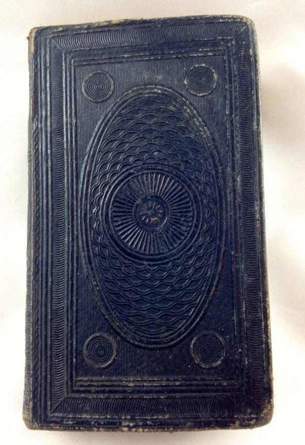 Antique Miniature Pocket Bible 1842 New Testament British Foreign Bible Society