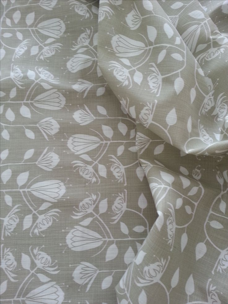 Maradadhi Textiles Protea in reverce. Stone onto white cotton.