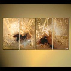 Pintura abstracta moderna obras de arte originales por OsnatFineArt