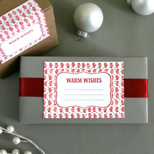Warm Wishes: Gift Wrapping, Gift Labels, Packaging, Holidays, Gift Tags, Holiday Gifts, 10 Letterpress