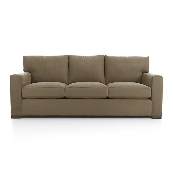 Cheap Sofas Bristan Walnut Color Traditional Classics Top Grain Leather Queen Sofa Sleeper FurnitureMaxx http