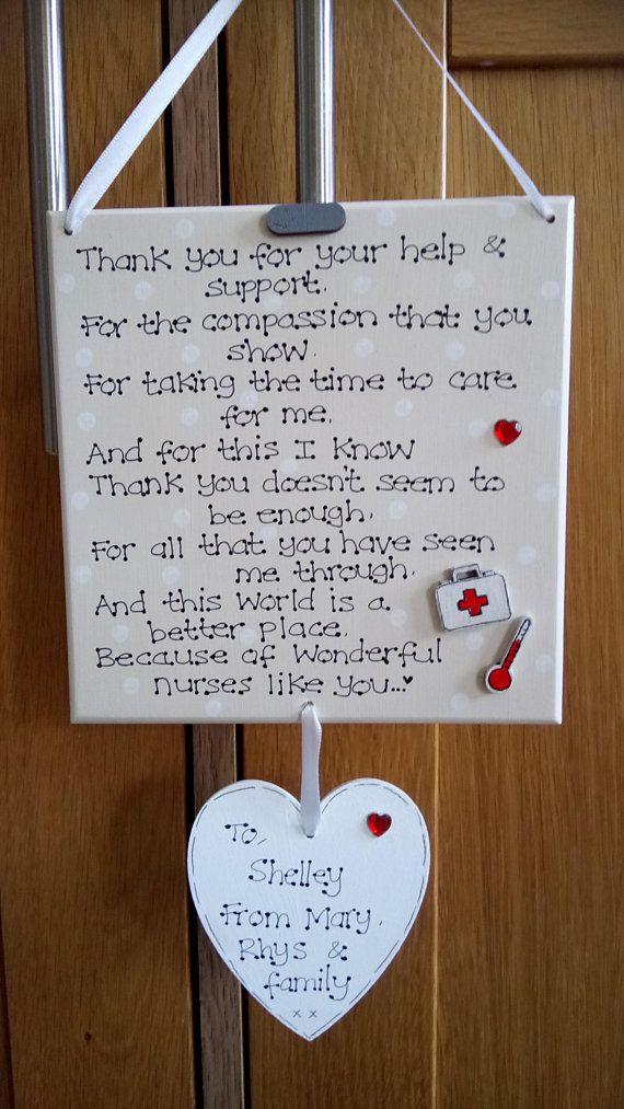 Personalised Wonderful Nurse Like You Thank You Poem Plaque Carer
