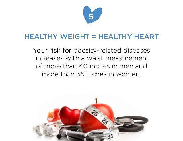 """HEALTHY WEIGHT = HEALTHY HEART """"We all know that a healthy weight can help us look and feel good-but did you know that maintaining a healthy weight keeps your heart healthy too?"""" According to the National Institutes of Health normal body mass index (BMI) should fall between 18.5 and 24.9. You can calculate your BMI by googling """"American Heart Association's BMI calculator"""". Healthy heart tip 1. Blood pressure Maintaining a healthy weight can support healthy blood pressure levels according to…"""