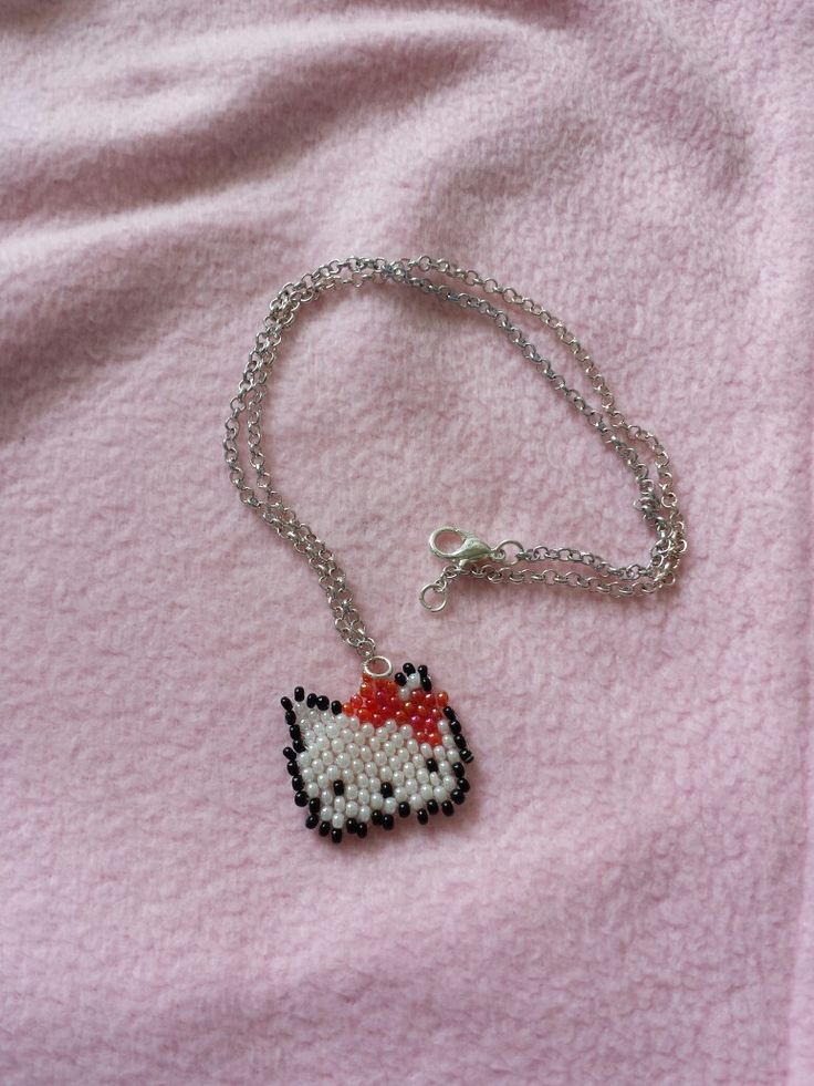 Hello Kitty beaded necklace #beads