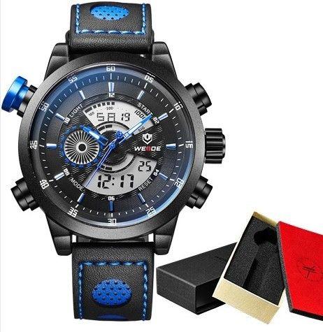 Značkové vodotěsné hodinky WEIDE vysoké kvality MODRÉ – dárky pro muže Na tento produkt se vztahuje nejen zajímavá sleva, ale také poštovné zdarma! Využij této výhodné nabídky a ušetři na poštovném, stejně jako to udělalo …