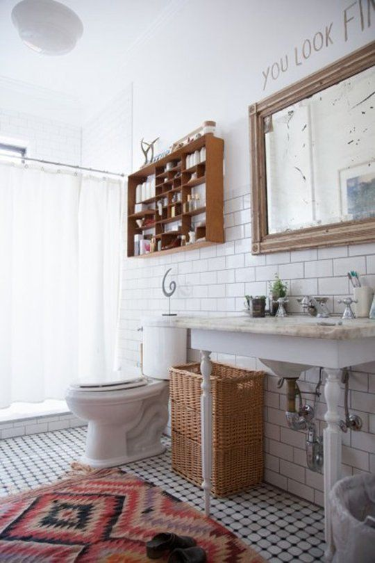 No More Matchy-Matchy Bathroom Decor: Unexpected Looks