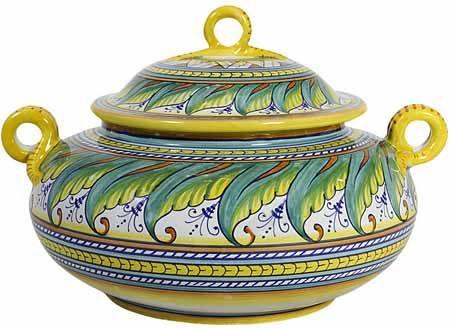 Ceramic Covered Jar/Pot - Tavalo