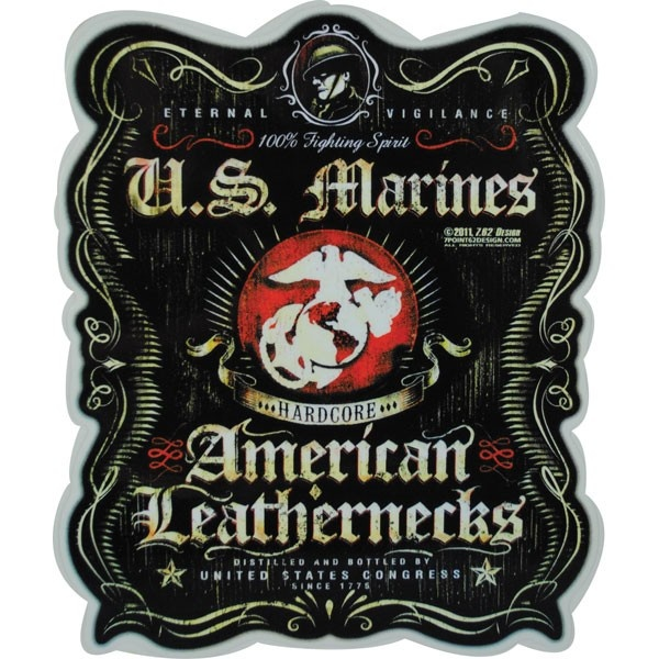 Large Wall Decal Marine Corps Marines Army Soldiers War Death Vinyl Stickers  (ed136) dark