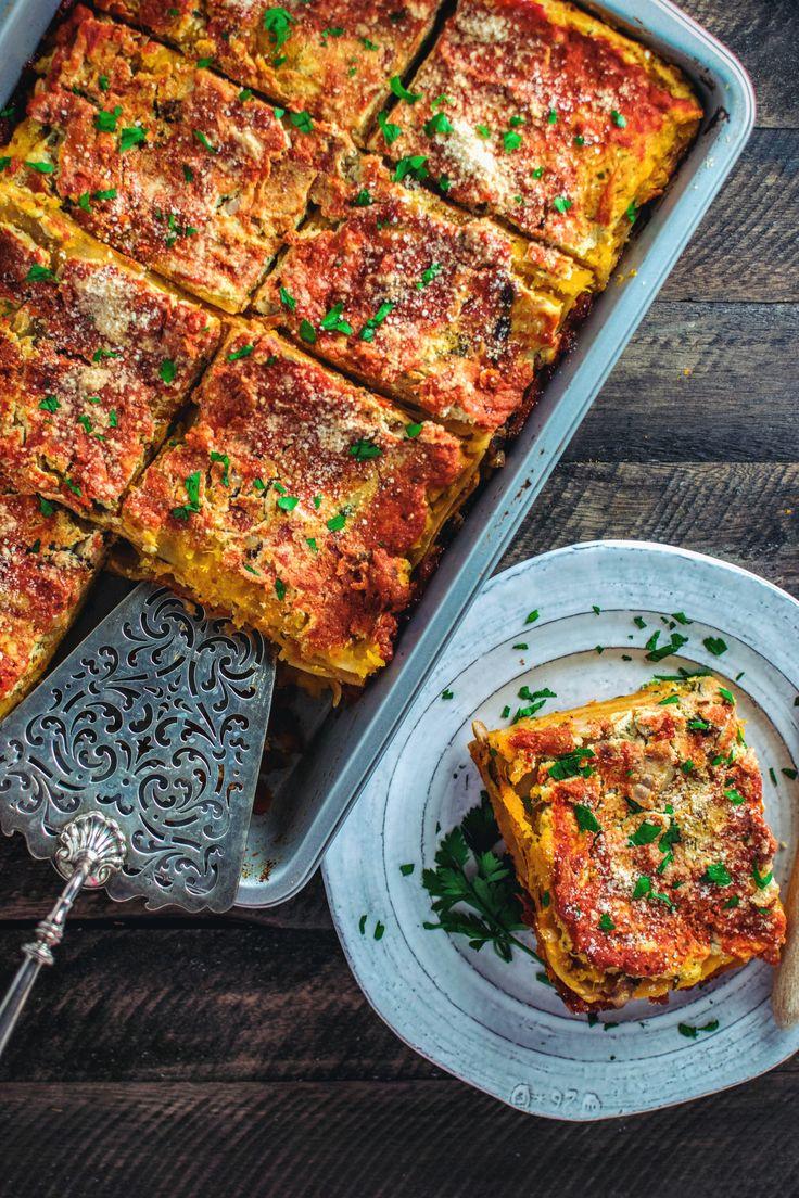 vegan lasagna with tofu ricotta