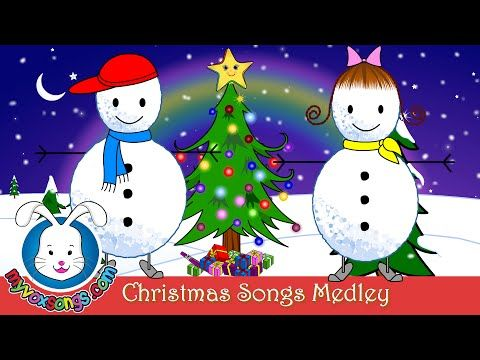 ▶ Christmas Songs for Kids with Lyrics   Xmas Medley [pinned by PartyTalent.com]