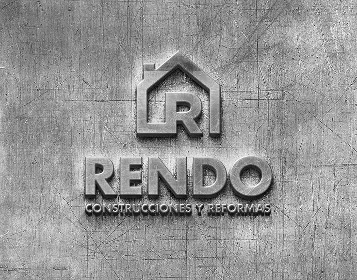 Diseño de logotipo para Construcciones Rendo #Diseño #Logo #Logotipo #Brand #Design #DiseñoGrafico #GraphicDesign #Yeti #Galicia #4BajoCero #Construccion #Vintage #Mockup